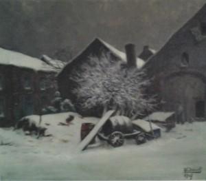 Ferme sous la neige (J.B. Scoriel)