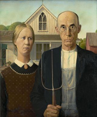 American gothic (photo Musée Chicago)