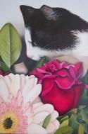 L'amateur de fleurs (50/70, coton, acrylique et alkyd)